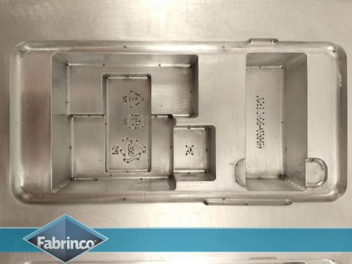 Matriz Termoformado Aluminio cuna - Detalle boca