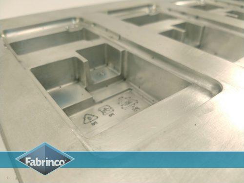 Matriz Termoformado Aluminio cuna - Detalle grabados